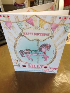 Birthday card made with digi kit in craft artist
