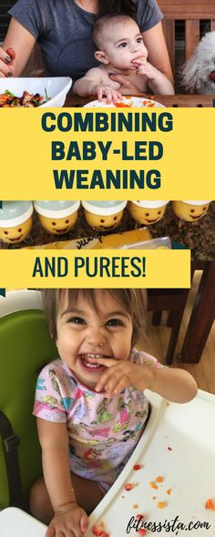 Not sure how to combine baby-led weaning (or BLW) with purees? You don't have to do all or nothing! Here are some of the techniques that worked for our two daughters. Some tips, pros, and cons of BLW.
