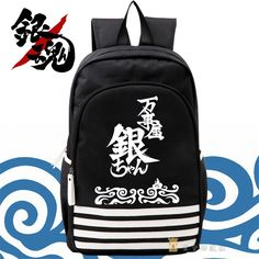 37.99$  Buy now - http://alibtv.shopchina.info/1/go.php?t=32615091473 - Free Shipping Silver Soul Shoulders Bag Gintama Gin Tama Packsack Canvas Large Knapsack Cartoon Travel Backpack  #buychinaproducts