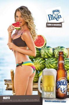 A Calendar No Man Could Resist… Hot, bikini-clad, Venezuelan girls promote the local beer in the 2013 Chicas Polar Pilsen Calendar.