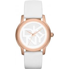 Montre DKNY Montres , Montre Cuir blanche or rose - Femme NY8802