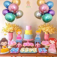 Que linda inspiração para festa no tema Princesas 💖💖💖 #inspiresuafesta #bloginspiresuafesta Por @suafestacg - Muita delicadeza para a…