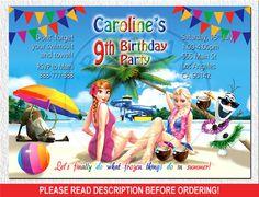 Frozen Invitation Disney Frozen Birthday Party by BogdanDesign