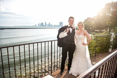 Palais Royale Wedding with the city skyline in the background