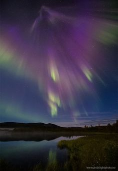 A geomagnetic storm that began on Sept. 3rd when a coronal mass ejection (CME) hit Earth's magnetic field is fitfully subsiding. The impact at 1200 UT (5 am PDT) induced significant ground currents in the soil of northern Scandinavia and sparked bright auroras around the Arctic Circle. Ole C. Salomonsen photographed the display over Naimakka, Finland, on Sept. 4th