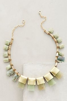 Anthropologie EU Jade Seaglass Necklace