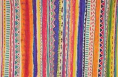 crayon aztec native pattern illustration
