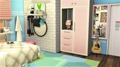 Sims 4 House Design, Sims 4 Teen, Sims Building, Dorm, Presents, Games, Furniture, Instagram, Ideas