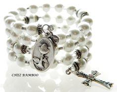 Rosary BraceletWrap Rosary BraceletCrystal Pearls by ChezBamboo, $20.00