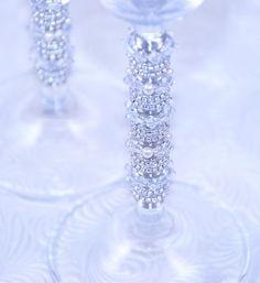 Toasting Flutes Beaded In Swarovski Crystals, Fresh Water Pearls And  | Beadz2Pleaz -  on ArtFire