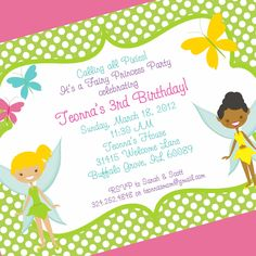 Fairy Princess Birthday Invitation