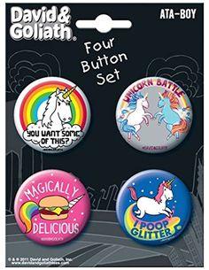 Ata-Boy David and Goliath Unicorns 4 Button Set Ata-Boy https://www.amazon.com/dp/B011D9EUSO/ref=cm_sw_r_pi_dp_x_5YfvybPEQR08G