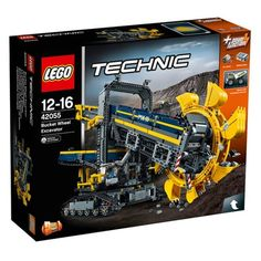 Lego Bucket Wheel Excavator (42055) Lego Technic Sets, Lego Technic Bagger, Lego Sets, Volvo, Lego Bucket, Technique Lego, Crawler Crane, Lego Store, Construction