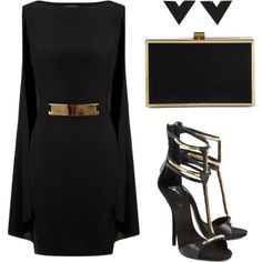 A fashion look from December 2014 featuring Lipsy dresses, Giuseppe Zanotti sandals and Carvela clutches. Browse and shop related looks. Holiday Fashion, 80s Fashion, London Fashion, Autumn Fashion, Fashion Outfits, Womens Fashion, Classy Outfits, Stylish Outfits, Beautiful Outfits