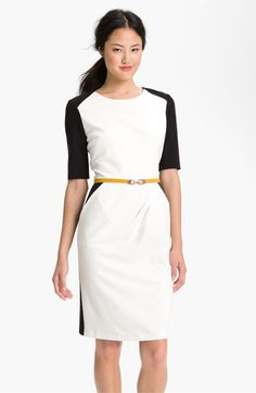 Suzi Chin for Maggy Boutique Belted Colorblock Sheath Dress available at #Nordstrom