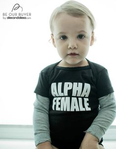 nununu - alpha female baby tee
