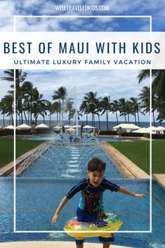 The Ultimate Luxury Family Vacation guide to Maui Hawaii - where to stay in Maui, where to eat in Maui and what to do in Maui with kids. Things to Do in Maui With Kids: The Ultimate Guide Hawaii Vacation Tips, Hawaii Honeymoon, Maui Hawaii, Vacation Destinations, Vacation Ideas, Oahu, Vacations, Road Trip With Kids, Travel With Kids