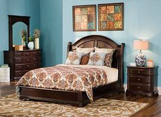 Bedroom Sets Raymour And Flanigan this catalina 4-pc. queen bedroom set is undeniably beautiful. its