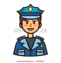 Policeman icon. Vector policeman logo isolated on white background.