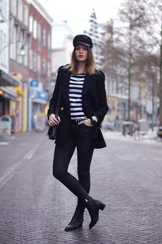 MARINE GIRL (by MODE ROSA) http://lookbook.nu/look/4498075-MARINE-GIRL