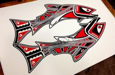 Haida Inspired Trout - Fly fishing Related Art | Fly Fishing ...