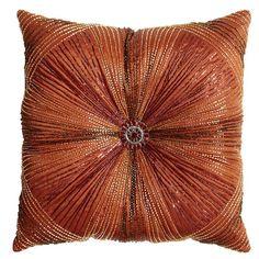 Pier 1 Beaded Sunburst Pillow