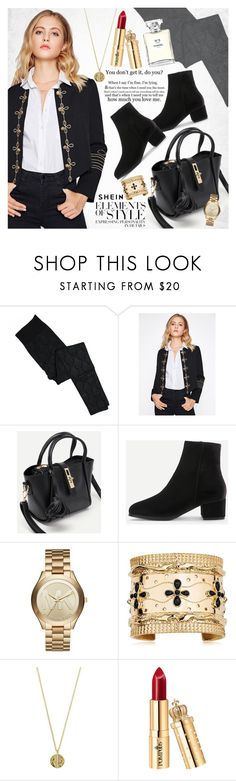 """Office style"" by vanjazivadinovic ❤ liked on Polyvore featuring Christian Dior, Michael Kors, Aurélie Bidermann, Senso, Vera Wang, Chanel, Sheinside, stripedpants and polyvoreeditorial"