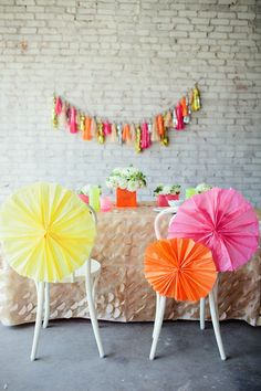 neon pinwheels via Ruffled