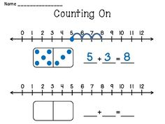 Counting On Practice small group mat - also have a Counting Back mat