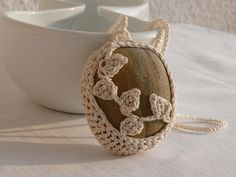 Hey, I found this really awesome Etsy listing at https://www.etsy.com/listing/200839503/crochet-stone-necklace-ivory-crochet