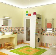 Bright and Spacious Bathroom Interiors for Kids