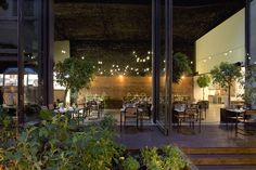 #Picnic tables with ambient string #lighting at 48 Urban Garden indoor and outdoor #restaurant and #bar