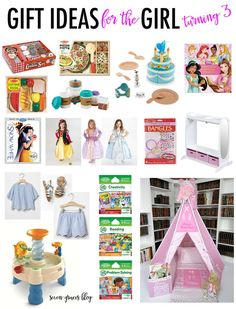 Fun gift ideas for the little girl turning three. Great gift guide for the three-year-old.