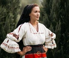 Folk Costume, Costumes, Folk Embroidery, Traditional Outfits, Kimono Top, Bell Sleeve Top, Ruffle Blouse, Tops, Women