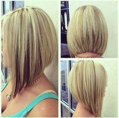 25 Medium angled bob haircuts - Medium angled bobs can be your new twist bringer. Her ability to make your appetite visible can har - Long Angled Bob Hairstyles, Blonde Bob Hairstyles, Bob Hairstyles For Fine Hair, Inverted Bob Haircuts, Medium Inverted Bob, Angled Haircut, Braid Hairstyles, Medium Hair Cuts, Medium Hair Styles