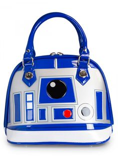 """R2D2"" Patent Dome Bag by Loungefly (White) #InkedShop #StarWars #R2D2 #bag #purse"