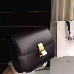 Celine Classic Box Bag in Smooth Calfskin Black