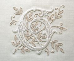 beautiful custom monogram by Lana at BelleCoccinelle