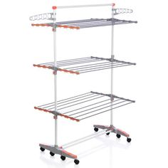 Shop for Badoogi Foldable Heavy Duty and Compact Storage Drying Rack System. Get free delivery On EVERYTHING* Overstock - Your Online Housewares Shop! Shoe Rack Under Bed, Under Bed Storage, White Laundry Rooms, Clothes Drying Racks, Clothes Storage, Racking System, Storage Sets, Hanging Racks, Shopping