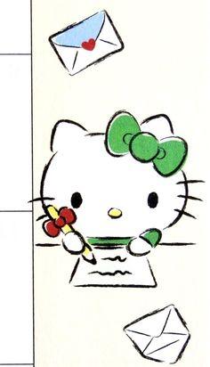 Hello Kitty Backgrounds, Hello Kitty Wallpaper, Hello Kitty Pictures, Kitty Images, Hello Kitty Imagenes, Sanrio Characters, Fictional Characters, Pink Parties, Rilakkuma