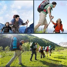 4-sections Adjustable Hiking Pole