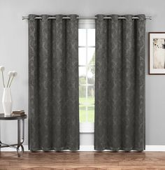 Warm Home Designs 1 Panel of Charcoal Grey Insulated Thermal Blackout Curtains with Grommet Top. Window Panel Is X in Size (Wide-size). Insulated Curtains, Thermal Curtains, Grommet Curtains, Drapes Curtains, Rock Room, Curtain Room, Blackout Drapes, Custom Drapes, Room Darkening