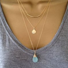 Michelle: Gold layered necklaces are the best