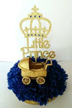 Gold And White Christening Cake Prince