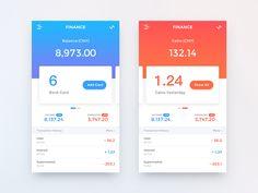 Finance app by liukui popular sayfa düzeni, kullan Ios App Design, Mobile App Design, Mobile App Ui, Design Thinking, Graphisches Design, Flat Design, Design Layouts, Card Ui, Finance
