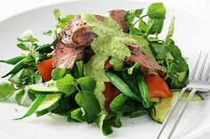 Combine lamb and green beans with a rich basil dressing for a sensational summer salad.