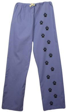 Scrub pants with dog paw prints,dog scrubs,nurse,vet tech,scrub pants paws,dog groomer,lounge wear,pajamas,vet,doctor by 1barkavenue on Etsy https://www.etsy.com/listing/234246156/scrub-pants-with-dog-paw-printsdog