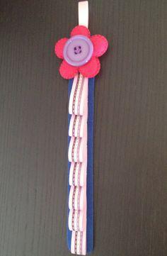 Porta Cerchietti fiore in feltro e di IlMagicoMondodiGaia su Etsy