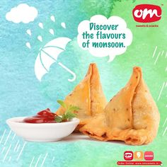 Monsoon is all about the crunch and munch of exotic food. Discover your flavours of monsoon with om sweets ☔️ Order online or drop in to relish! . . . #omsweets #omsweetsandsnacks #tastyfood #monsoondiaries #rainyday #monsoonsnacks Om Sweets, Snack Recipes, Snacks, Exotic Food, Monsoon, Discover Yourself, Chips, Yummy Food, Drop