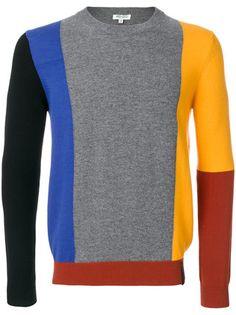 Shop Kenzo block panel sweater.